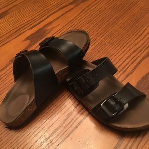 black Madden Girl sandals, women size 6 1/2